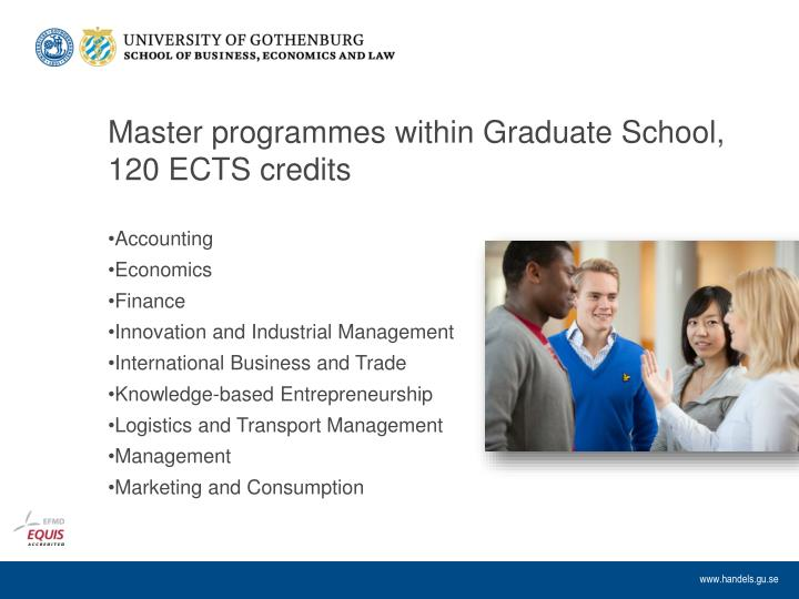 Master programmes within Graduate School, 120 ECTS credits
