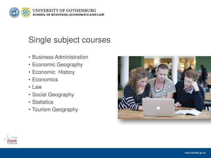 Single subject courses