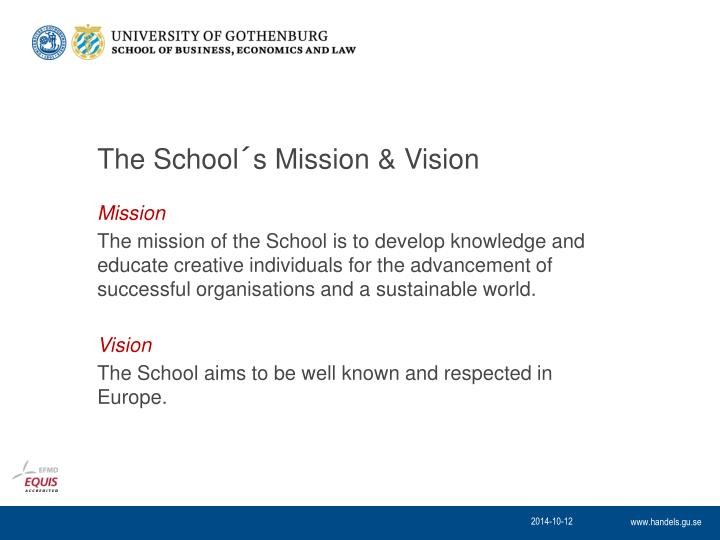 The School´s Mission & Vision