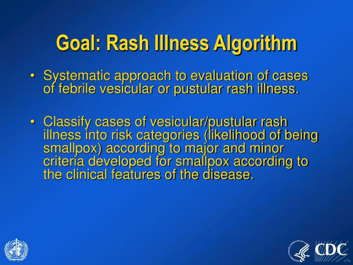 Goal: Rash Illness Algorithm