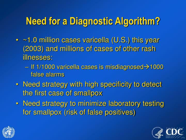 Need for a diagnostic algorithm1