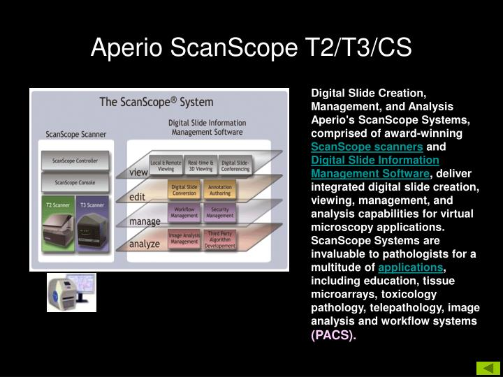 Aperio ScanScope T2/T3/CS