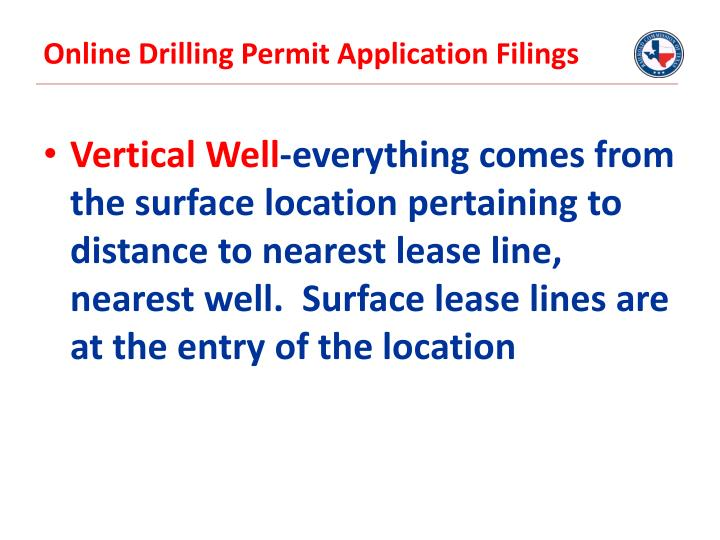 Online Drilling Permit Application Filings