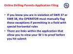 online drilling permits application filing1