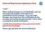 online drilling permits application filing14