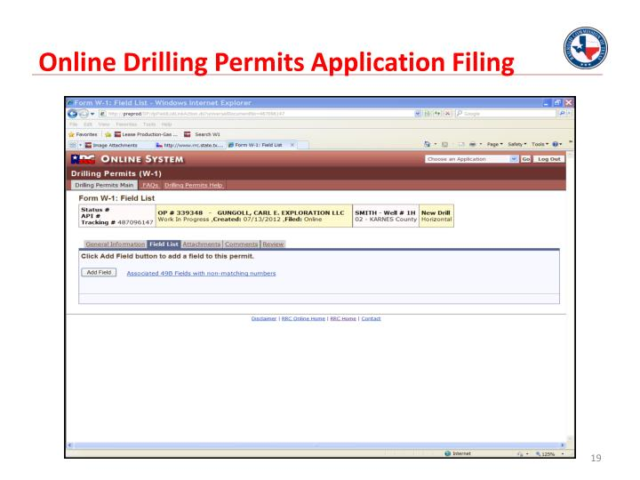 Online Drilling