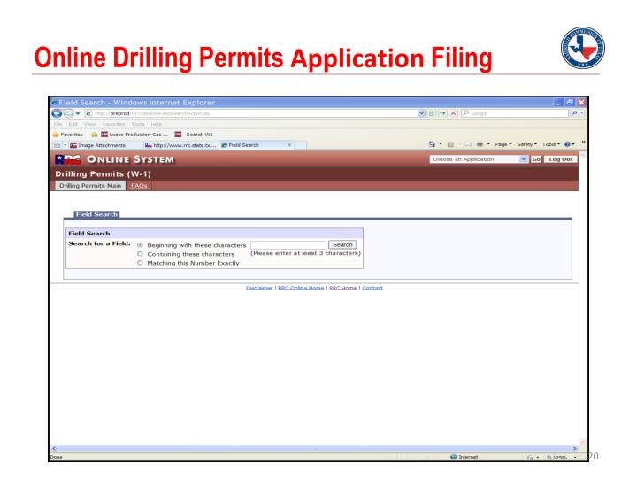 Online Drilling Permits