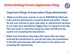 online drilling permits application filing34