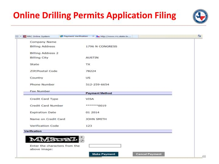 Online Drilling Permits Application Filing