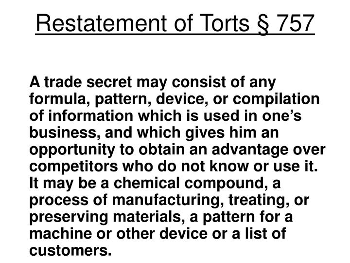 Restatement of Torts