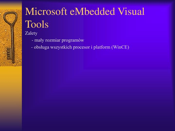Microsoft eMbedded Visual Tools