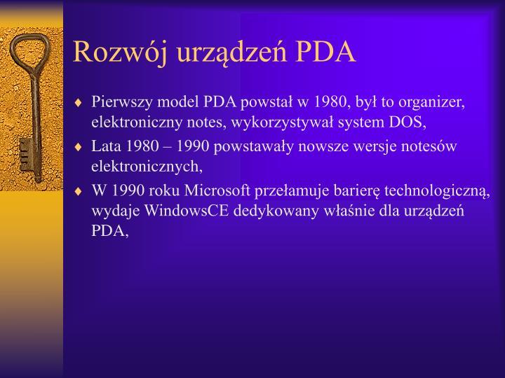 Rozwój urządzeń PDA