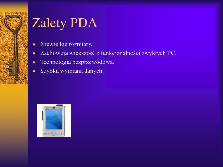Zalety PDA