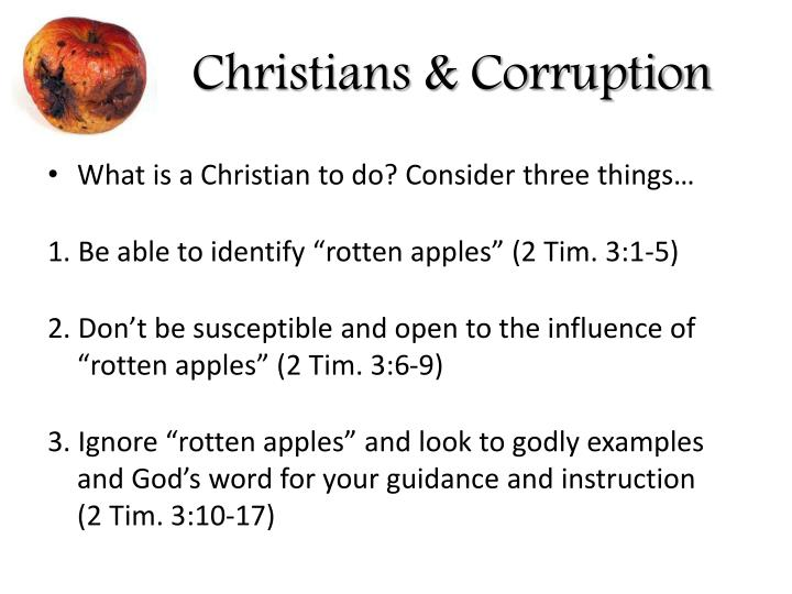Christians & Corruption