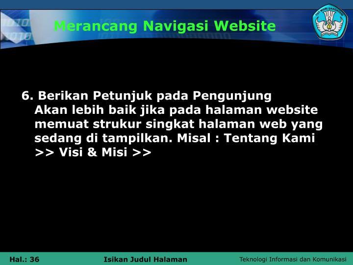 Merancang Navigasi Website