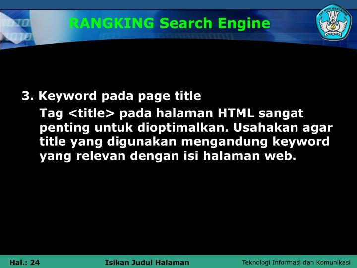 RANGKING Search Engine