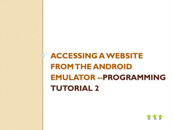 Accessing a website from the Android