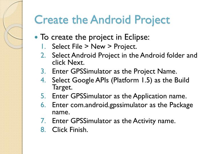 Create the Android Project