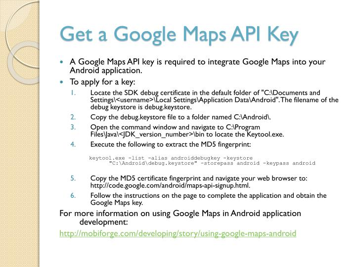 Get a Google Maps API Key