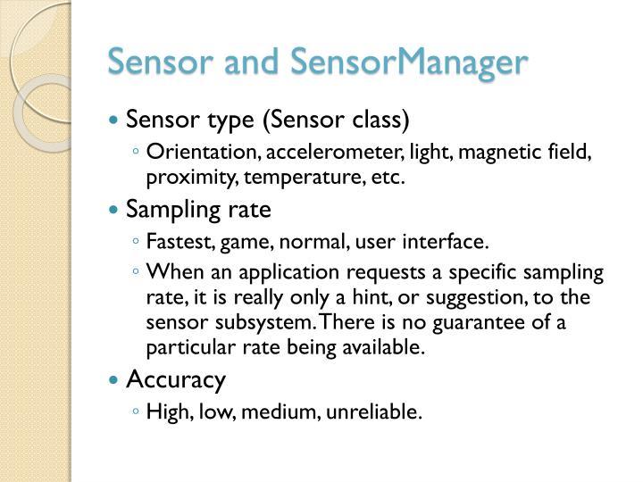Sensor and