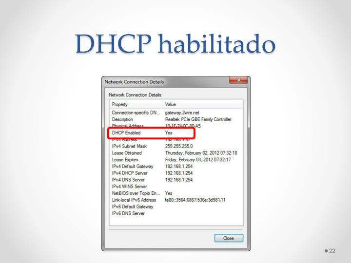 DHCP habilitado