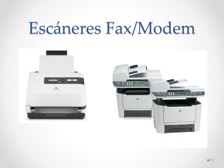 Escáneres Fax/Modem