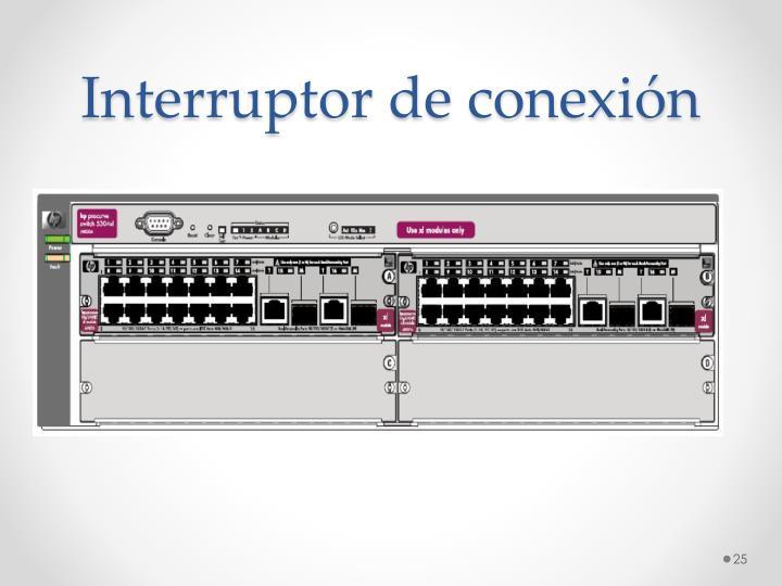 Interruptor de conexión