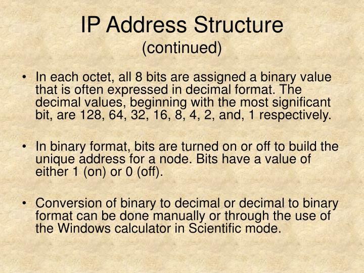 IP Address Structure