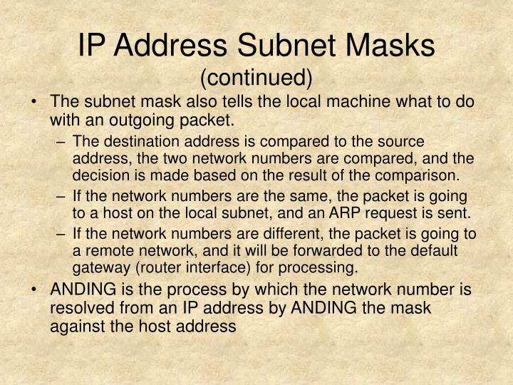 IP Address Subnet Masks