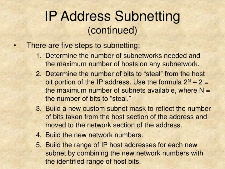 IP Address Subnetting