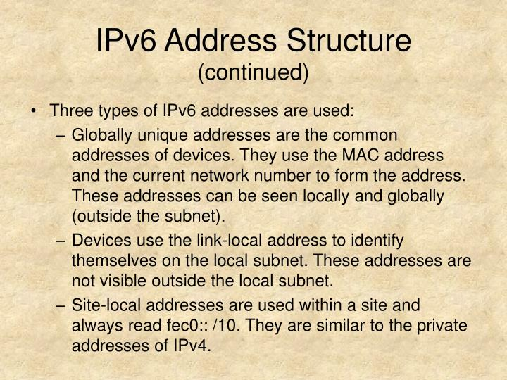 IPv6 Address Structure