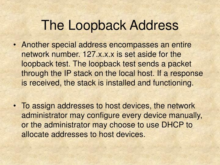 The Loopback Address