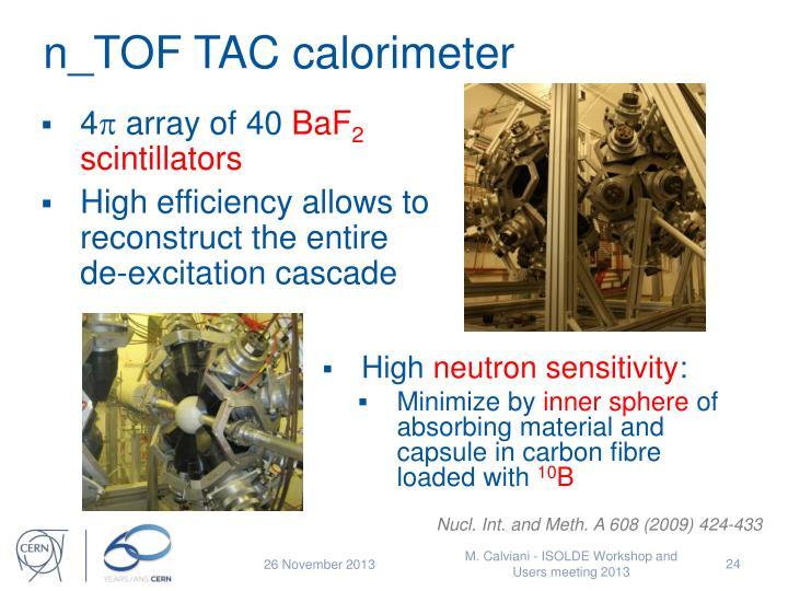 n_TOF TAC calorimeter