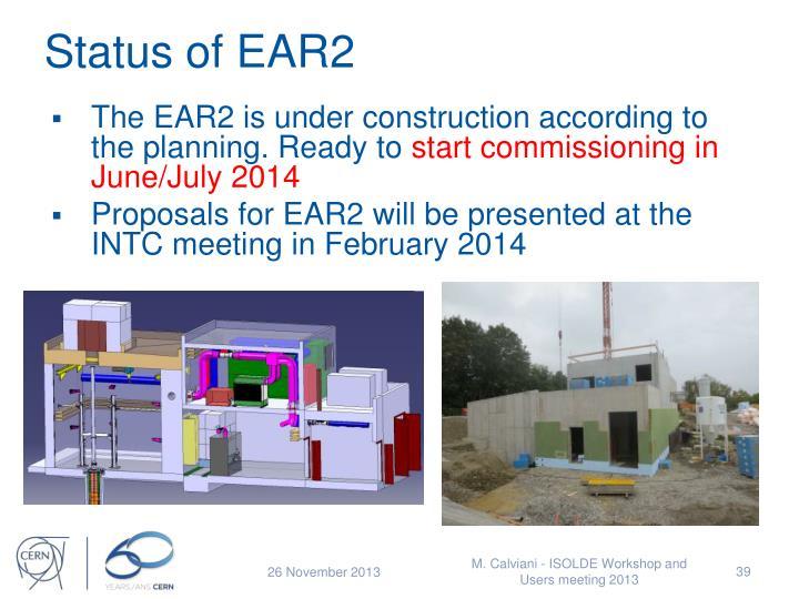 Status of EAR2