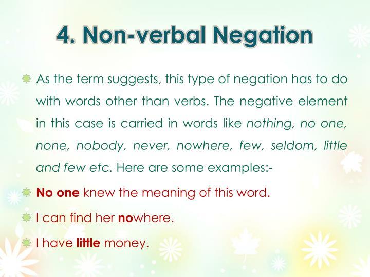 4. Non-verbal Negation