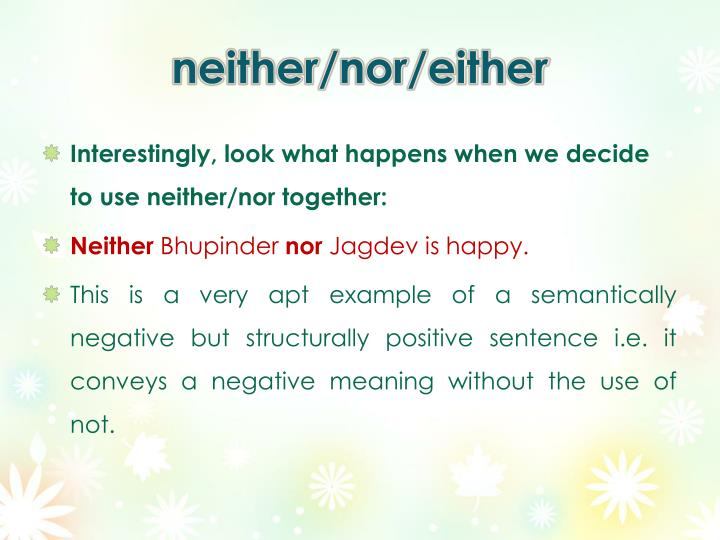 neither/nor/either