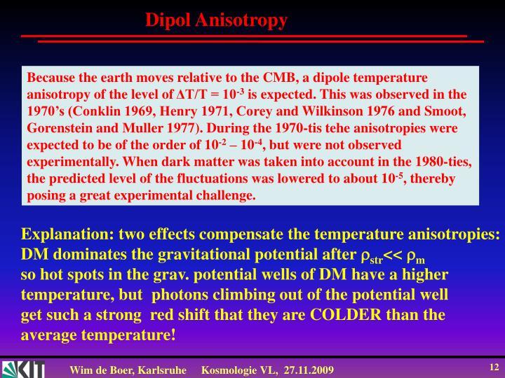 Dipol Anisotropy