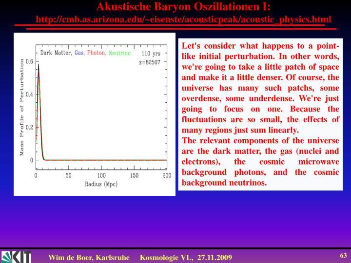 Akustische Baryon Oszillationen I: