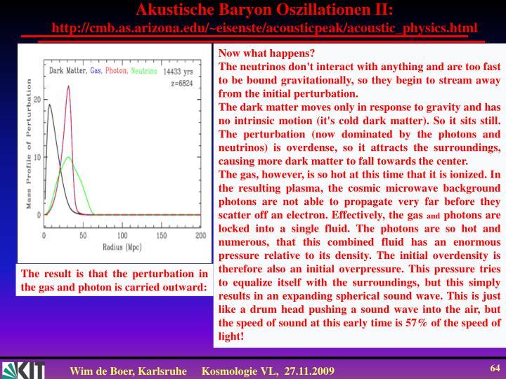 Akustische Baryon Oszillationen II: