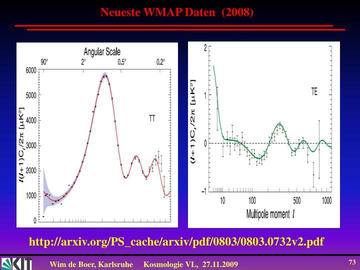 Neueste WMAP Daten  (2008)