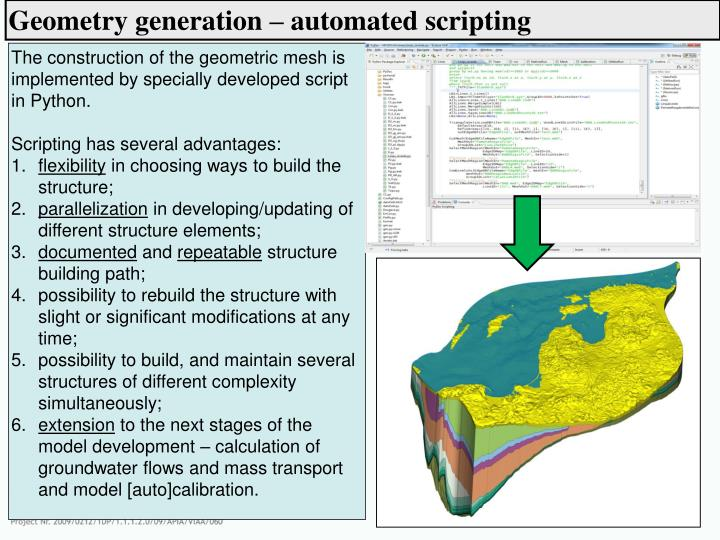 Geometry generation – automated scripting