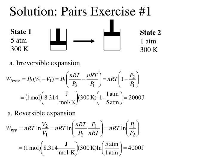 Solution pairs exercise 1