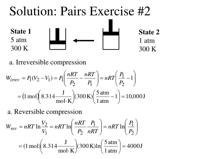 Solution pairs exercise 2