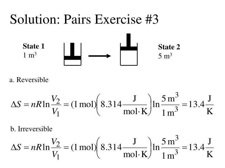 Solution pairs exercise 3