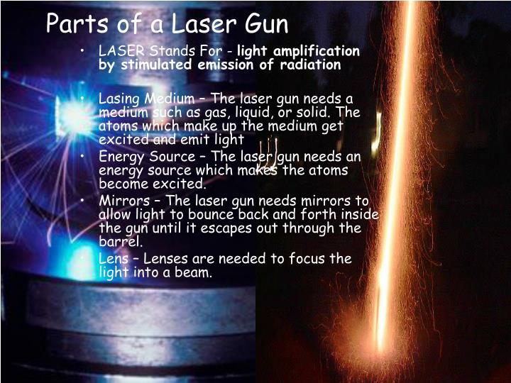 Parts of a Laser Gun
