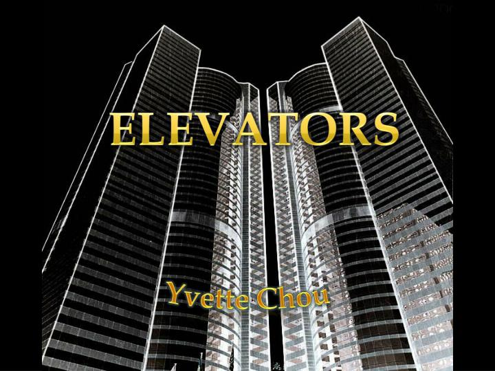 Essay of the history of elevators 1