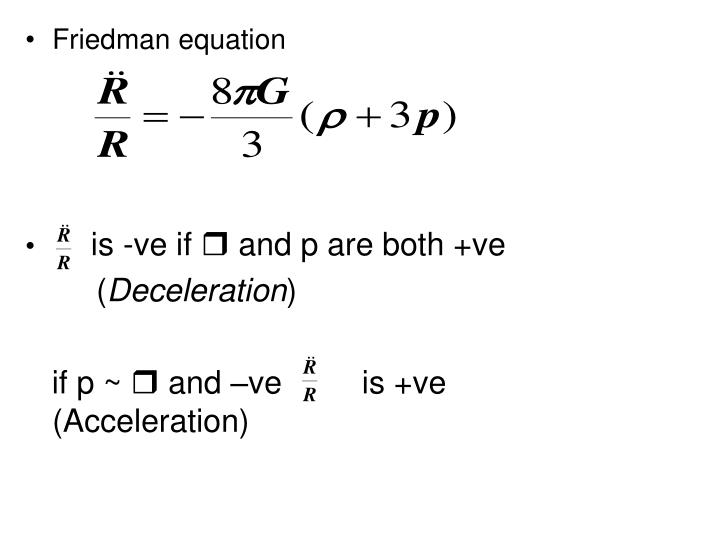 Friedman equation