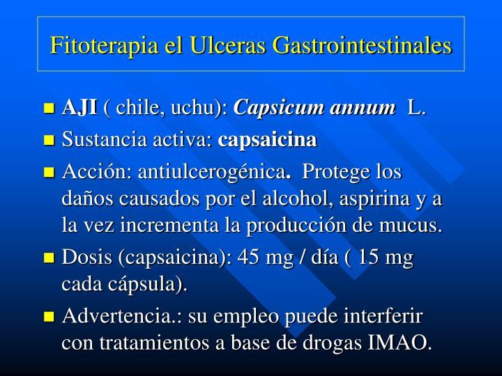 Fitoterapia el Ulceras Gastrointestinales
