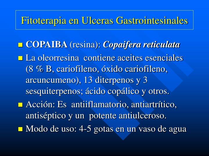 Fitoterapia en Ulceras Gastrointesinales
