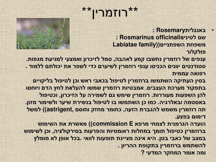 **רוזמרין